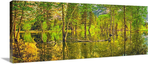 Yosemite Relections Panoramic Canvas