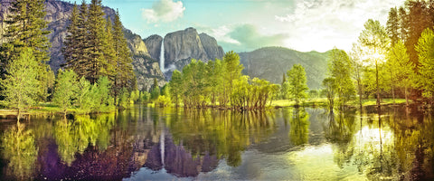 Yosemite Valley Panoramic Metal Print