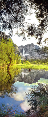 Yosemite Falls, Yosemite National Park, CA Panoramic Metal Print
