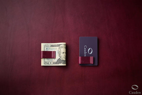 [Purple] Cauden Carbon Fiber Moneyclip Wallet