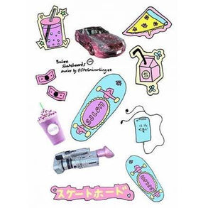 "Salon Skateboards ""Hyper"" sticker pack"