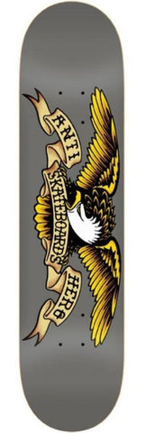 "Anti Hero ""Classic Eagle"" grey Skateboard Deck 8.25"""