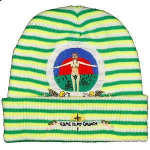 "CTMY ""Eve"" beanie (green stripy)"