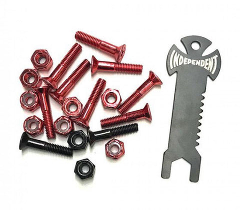 Indy Bolts Phillips Red/Black 1""