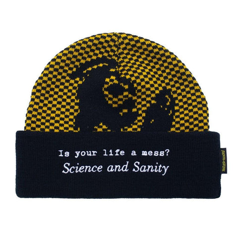 "Fucking Awesome ""Science And Sanity"" Cuff Beanie (Black/Gold)"