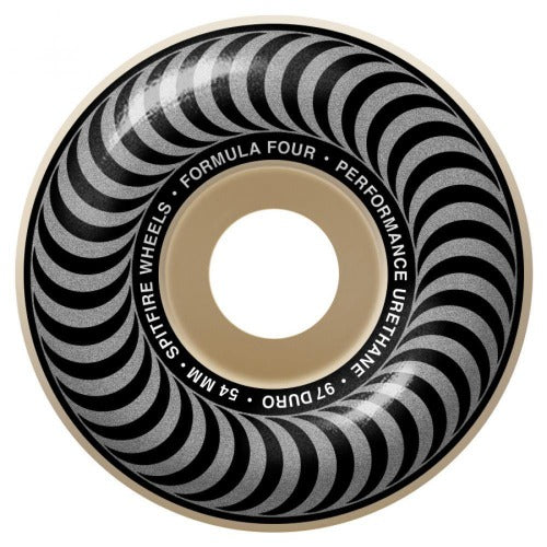 "Spitfire Formula Four ""Classics"" Skateboard Wheels Natural 97DU 54mm"