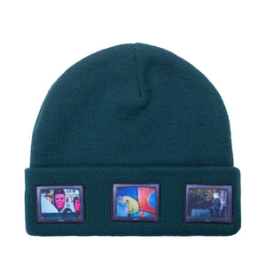 "Hockey Skateboards ""Screens"" Beanie Dark Green"