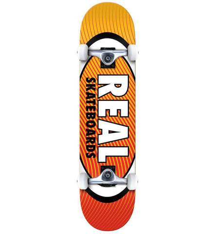 "Real ""Oval Heatwave"" Complete Skateboard 7.75"""