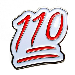 "Lovenskate ""110"" pin badge"