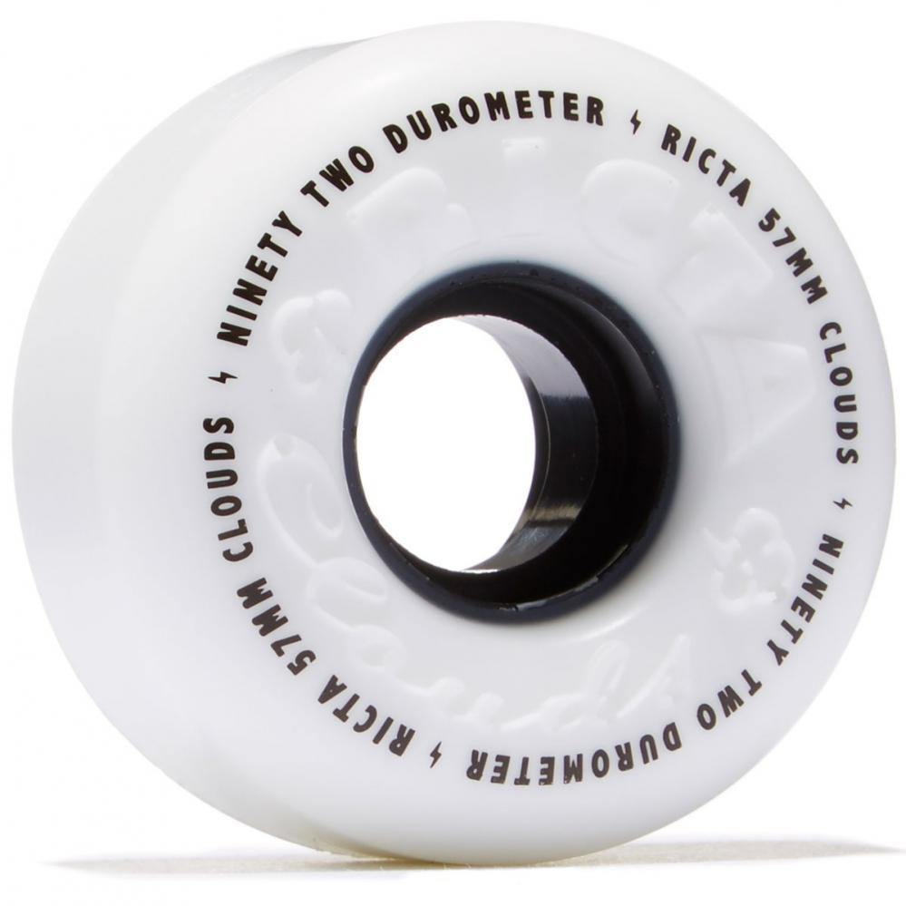 "Ricta ""Clouds"" Wheels 92A White/Red 52mm"