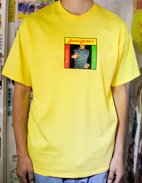 "Brixton's Baddest series III ""Fully Bad"" Yellow tee"