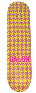 "Salon ""Hounds Tooth"" Skateboard Deck 8.5"""