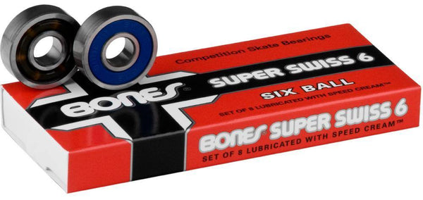Bones Super Swiss 6 Ball 608 Skateboard Bearings
