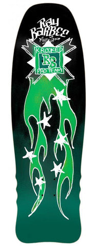 "Krooked ""Ray Barbee Flames"" Skateboard Deck 10"""