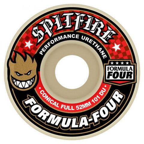 Spitfire Formula Four Conical Full Wheels Conical Full Natural 101DU 53mm