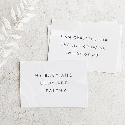 Pregnancy affirmation cards Baby Paper and Wool