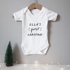 Personalised baby name first Christmas bodysuit Baby Paper and Wool