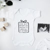 Personalised occasion baby announcement bodysuit Baby Paper and Wool