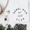 Personalised Rebel Mum Club t-shirt Baby Paper and Wool