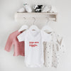 You are magic short sleeve bodysuit Baby Paper and Wool