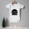 Personalised baby's first Christmas snow globe bodysuit Baby Paper and Wool