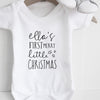 Personalised baby's first merry Christmas bodysuit Baby Paper and Wool