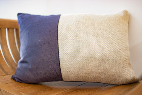 Velvet Divide Lumbar Pillow