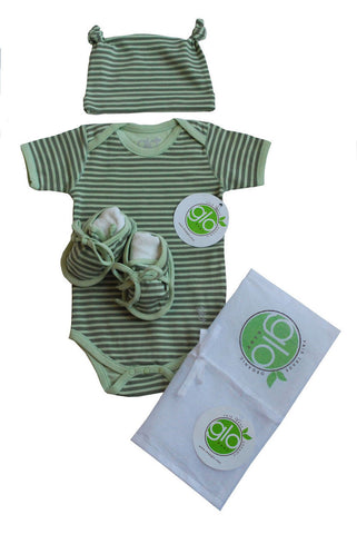 Green Stripe Onesie Gift Set