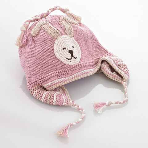 Pink Bunny Baby Hat
