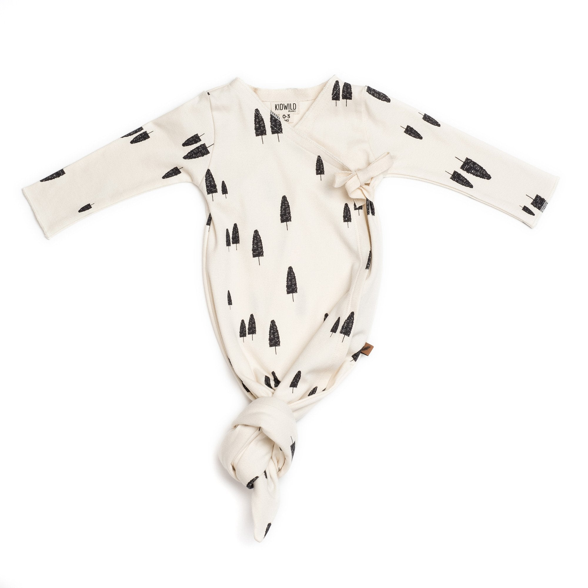 02341829c Organic Baby Kimono Gown - Forest – BedStraw