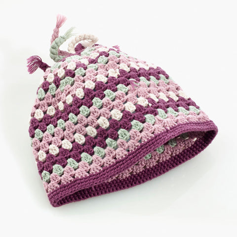 Purple Pebble Baby Hat
