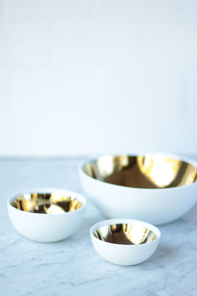 Gold Lined Bowls