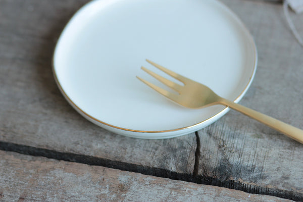 Gold Rimmed Small Plate