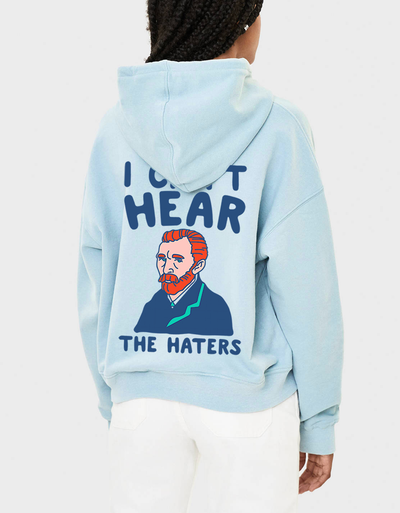 "Felpa con cappuccio ""Van Gogh - I can't hear the haters"""
