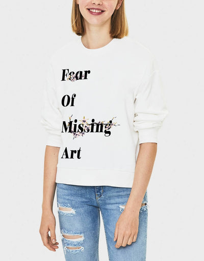 "Felpa Girocollo Donna ""Fear of missing art"" - dandalo"