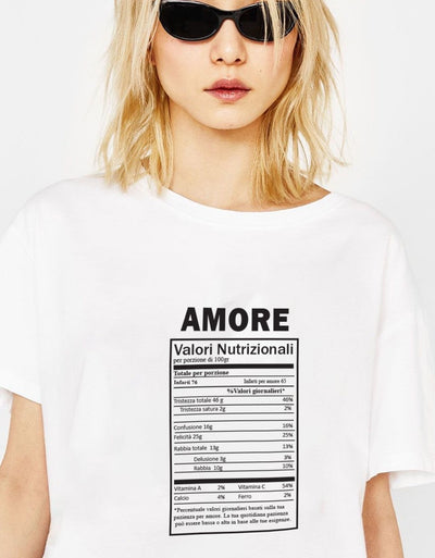 "T-Shirt Donna ""Ingredienti Amore "" - dandalo"