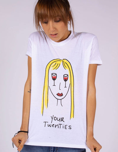 "T-Shirt Donna ""Twenties 🍷👄🍷"" - dandalo"