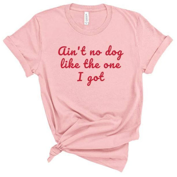 women's pink t-shirt, dog mom shirt