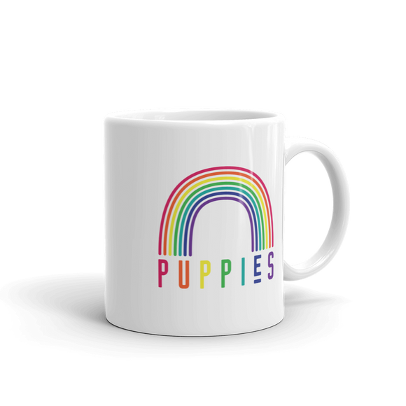 Puppies & Rainbows Mug