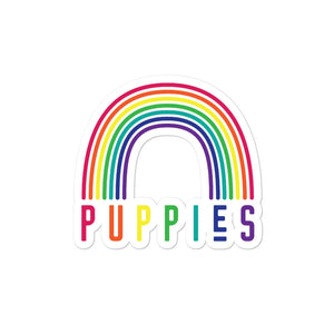 Puppies and Rainbows Sticker