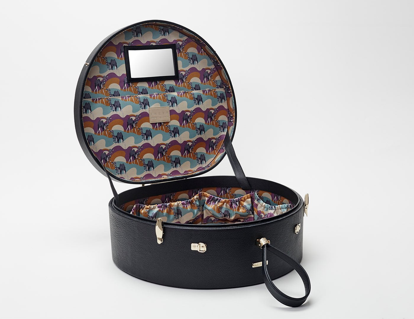 Poppy Travel Hat Box, Black