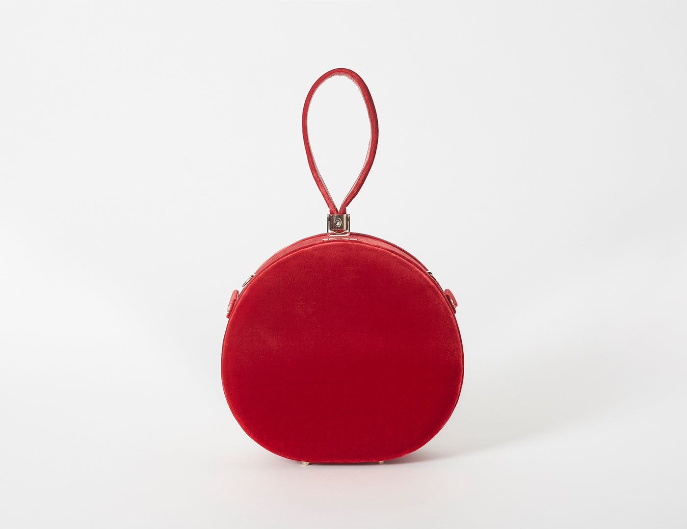 Demi Poppy Round Bag, Red Velvet