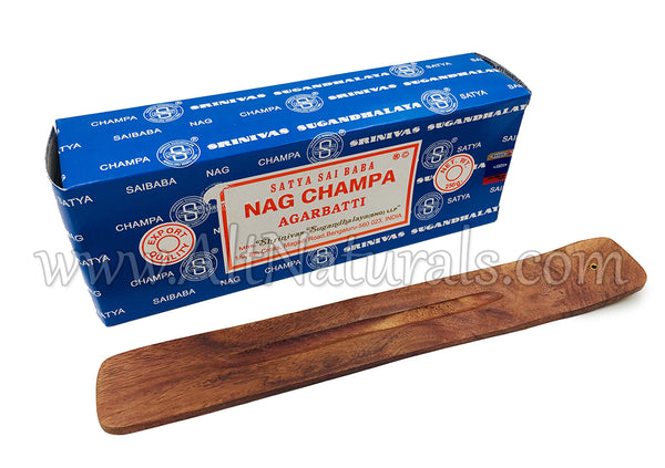 Nag Champa Bundle with Wooden Incense Tray