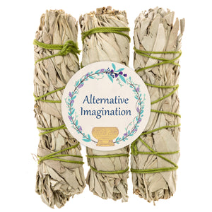 Premium California White Sage 4 Inch Smudge Sticks - 3 Pack For Home Cleansing, Fragrance, Meditation, Smudging Rituals. Packaged with Care in the USA