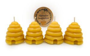 100% Pure, Natural Beeswax Beehive Votive Candles