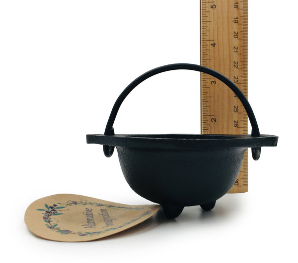 Cast Iron Cauldron for Herbs, Spellwork, and More
