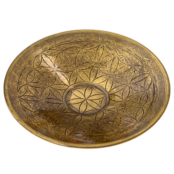 Brass Flower of Life Bowl (Clearance)