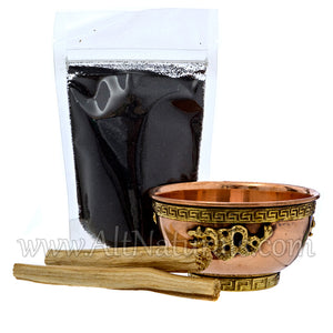 Dragon Copper Offering Bowl Kit with Palo Santo
