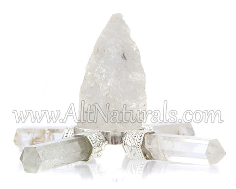 Clear Quartz Four Point Energy Generator
