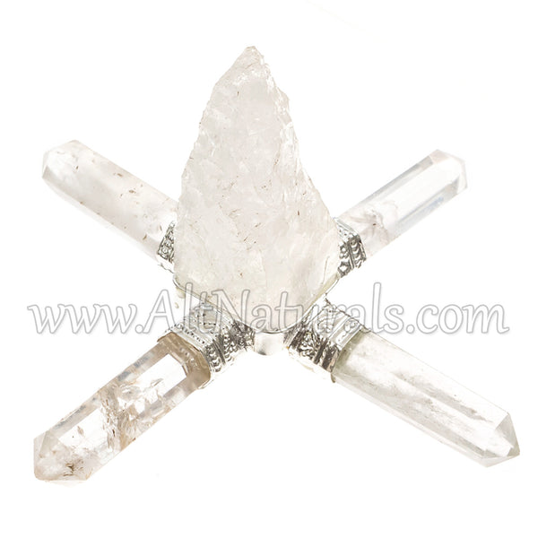 Clear Quartz Four-point Energy Generator